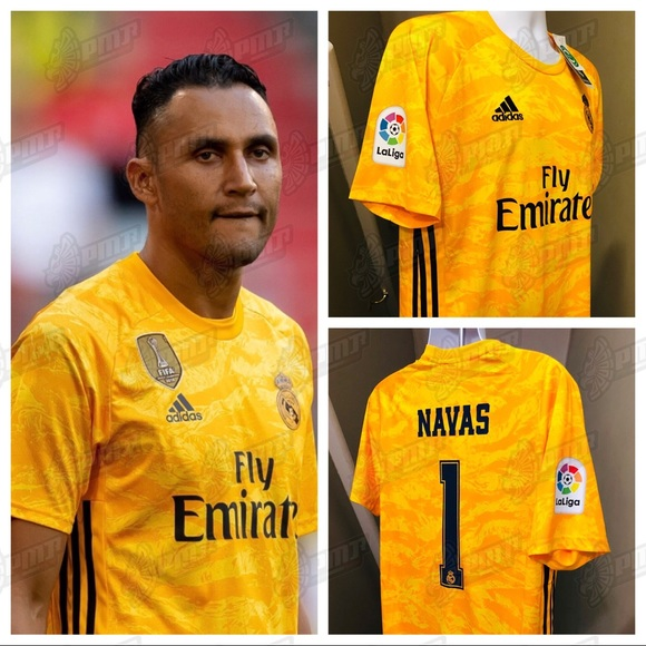 more photos ef566 79737 Real Madrid Goalie Soccer Jersey Keylor Navas #1 NWT
